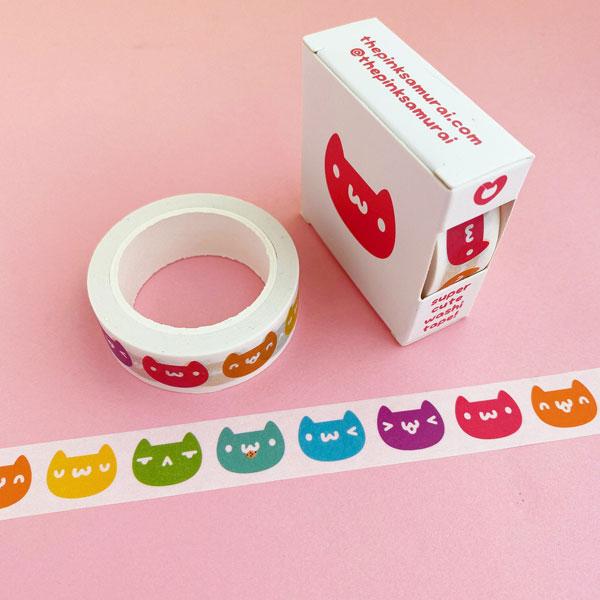 cats kawaii washi tape