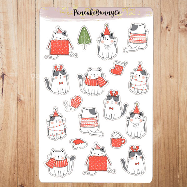 Kawaii Christmas planner stickers