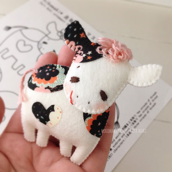 Year of the Ox felt sewing pattern