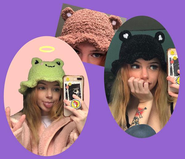 froggy and bear bucket hat crochet pattern