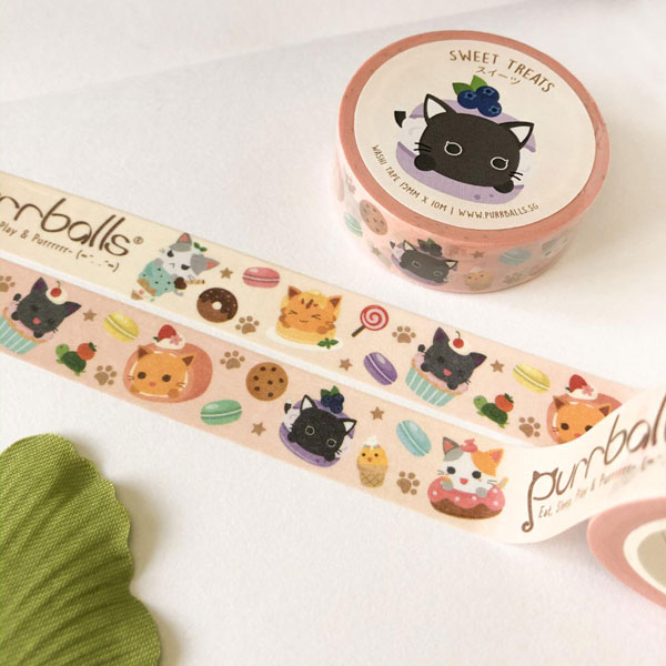 cat cafe washi tape
