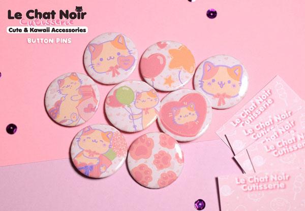 cats cute badges pins