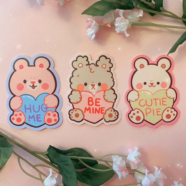 kawaii Valentines stickers