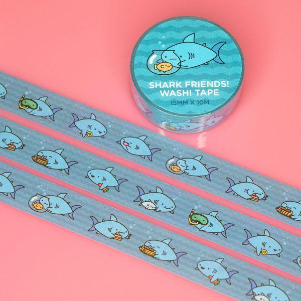Kawaii sharks washi tape