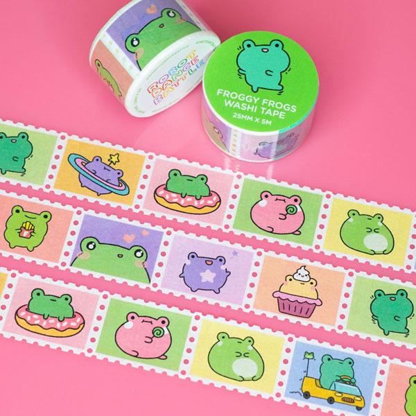 frogs kawaii washi tape