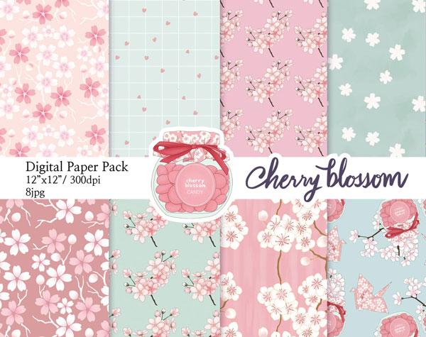 Sakura Journaling patterned paper