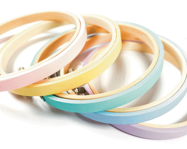 Pastel Craft Supplies - hoops