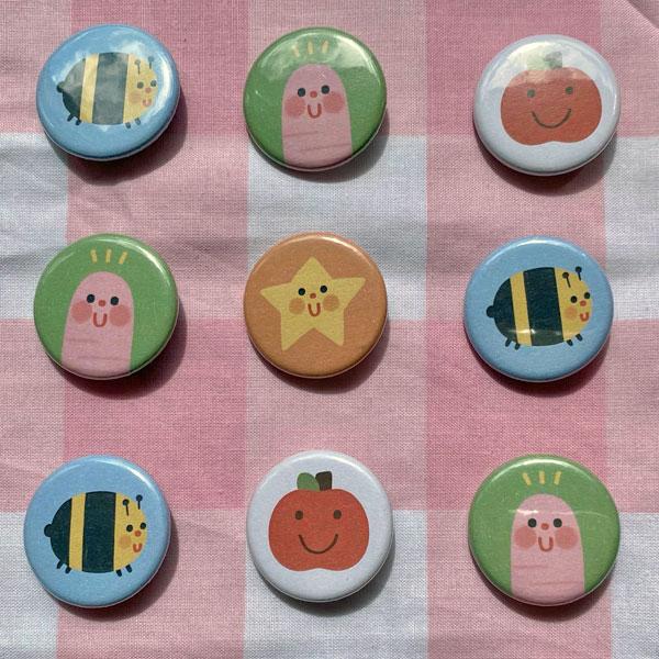 cute animals badges pins