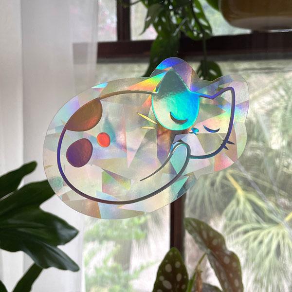 cat rainbow kawaii suncatchers