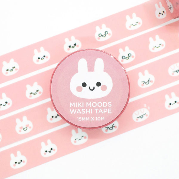 kawaii bunny washi tape