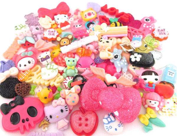 Colourful Craft Supplies - kawaii cabochons