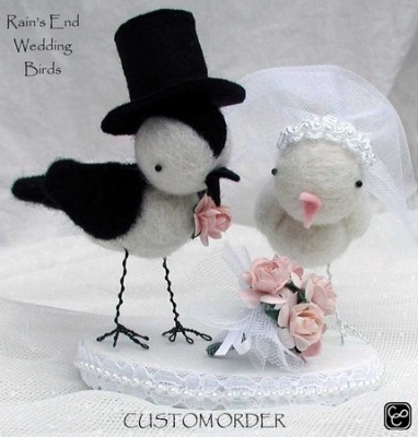 These Wedding Birds are handmade by Rain 39s End and would
