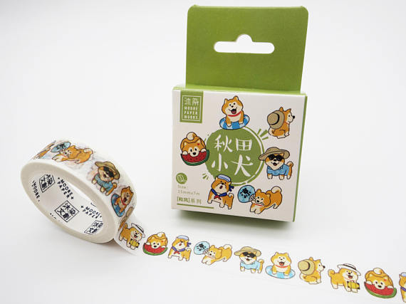 cute dogs washi tape