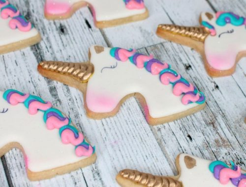vegan gifts - unicorn cookies