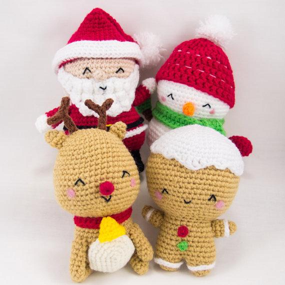 Christmas Amigurumi Patterns By Snacksies Handicraft