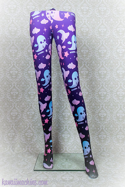 kawaii ghost leggings
