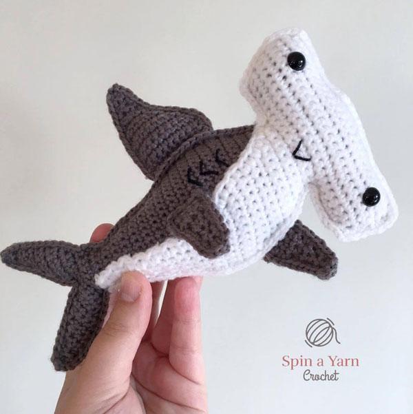 kawaii shark crochet pattern