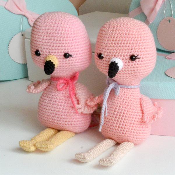 Flamingo DIYs - amigurumi crochet pattern