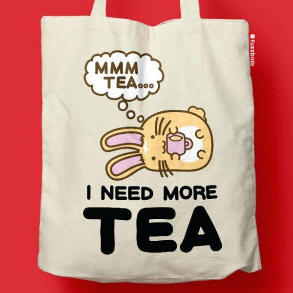 kawaii tea tote bag