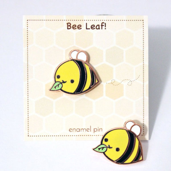 Cute Self Care Enamel Pins - bumblebee
