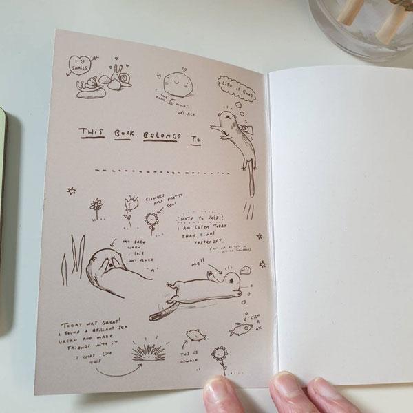 otter jotter animal notebook
