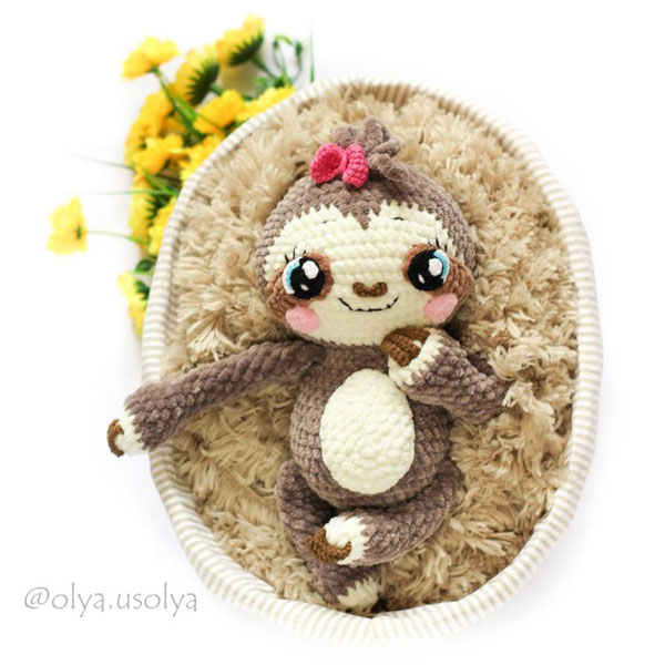 Cute Sloth Crafts - amigurumi crochet pattern