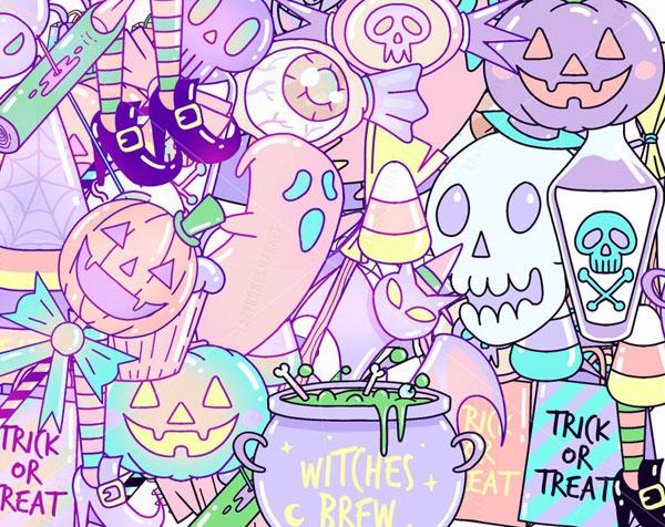 DIY Pastel Halloween printables