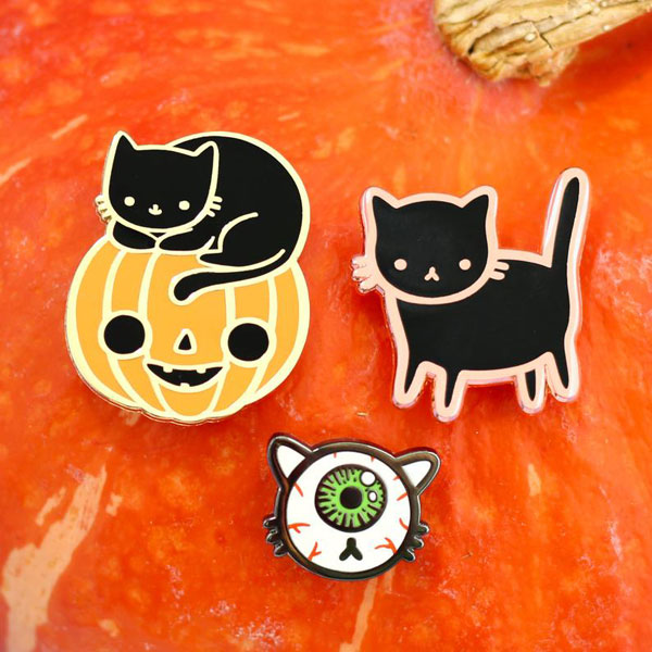 Kawaii Halloween Enamel Pins