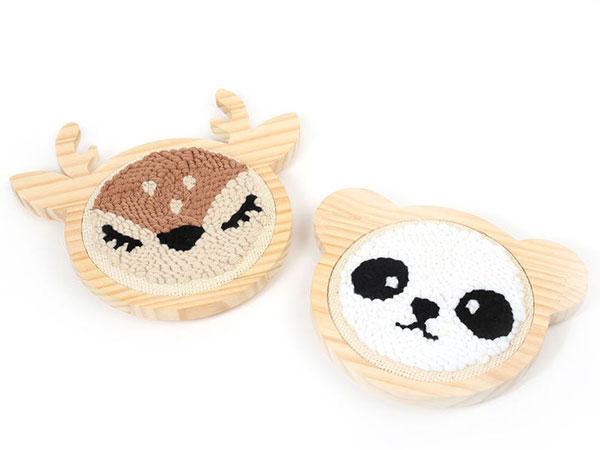 cute punch needle kits - deel and panda