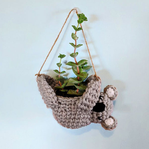 kawaii koala planter crochet pattern