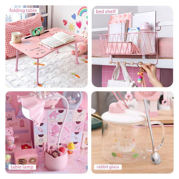 kawaii pink room