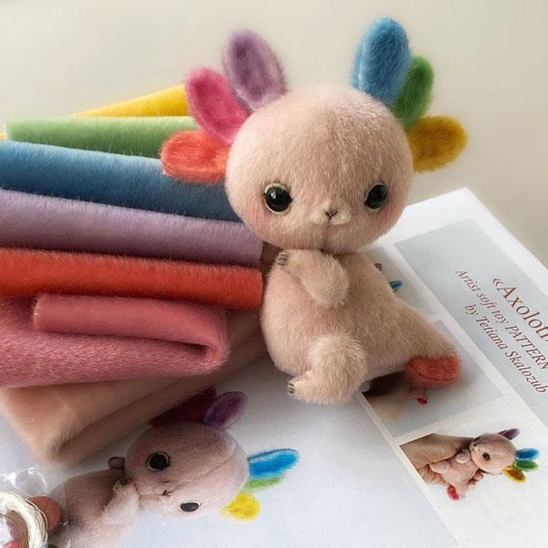 Cute Axolotl Plush Sewing Kits & Patterns