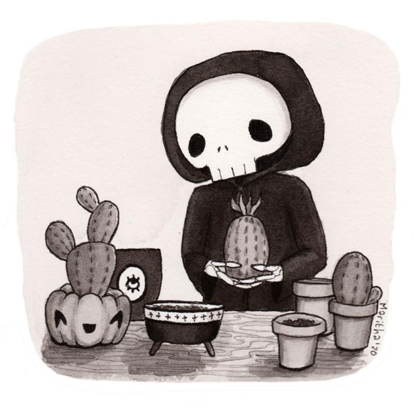 creepy cute halloween art
