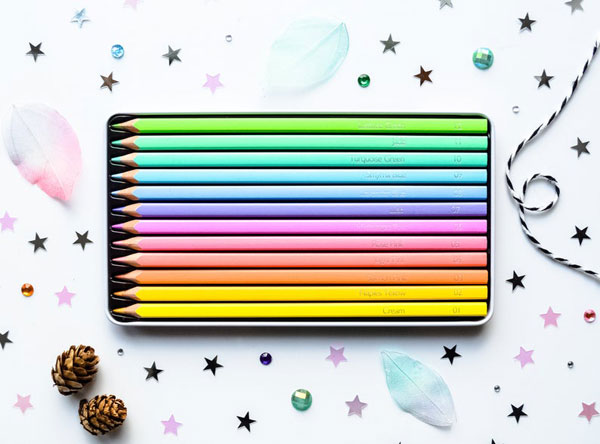 Pastel Craft Supplies - coloured pencils