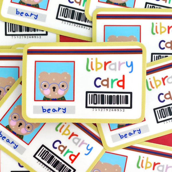 library card kawaii stickers