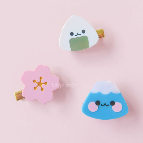 kawaii japan hair clips