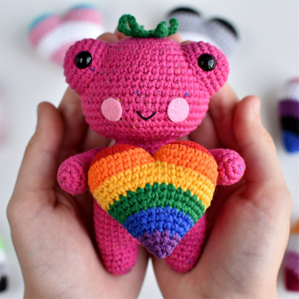 Pride Flags frog plush