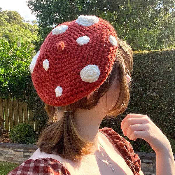 kawaii toadstool beret crochet pattern