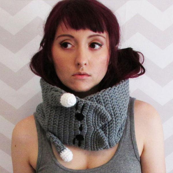 DIY crochet kawaii cat scarf