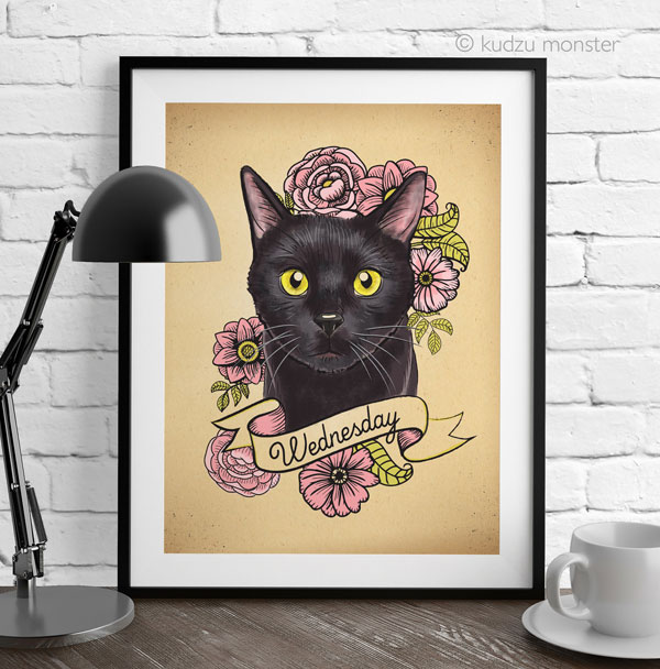 cat lady gifts pet portrait
