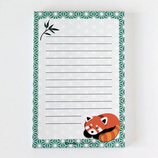 kawaii notepads red panda