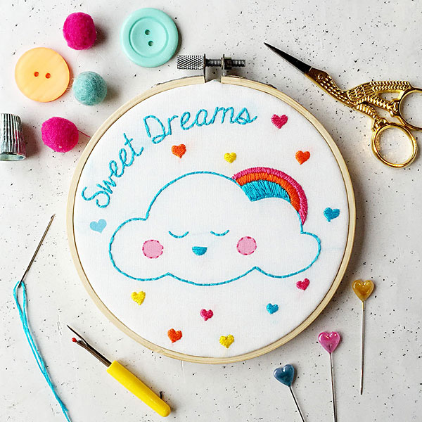 Sweet Dreams embroidery kit
