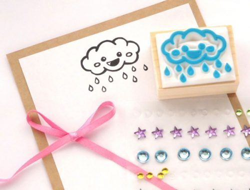 kawaii stationery cloud rubber stamp