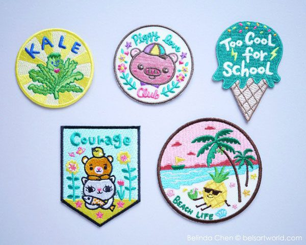 kawaii shops patches