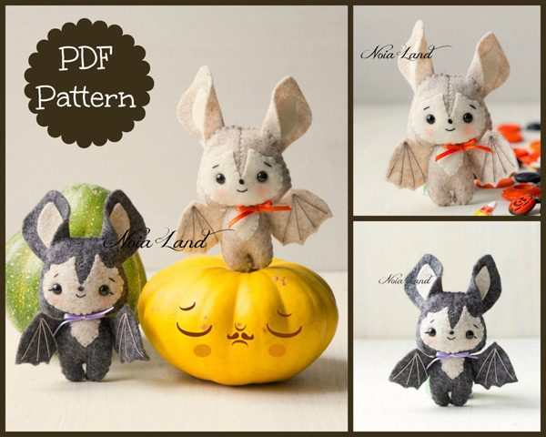 Kawaii Bats Halloween Sewing Patterns