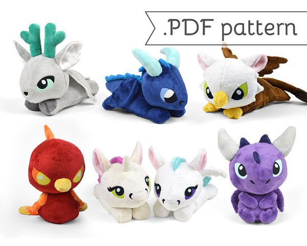 kawaii shops dragons sewing patterns