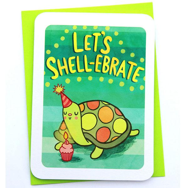 kawaii tortoise card