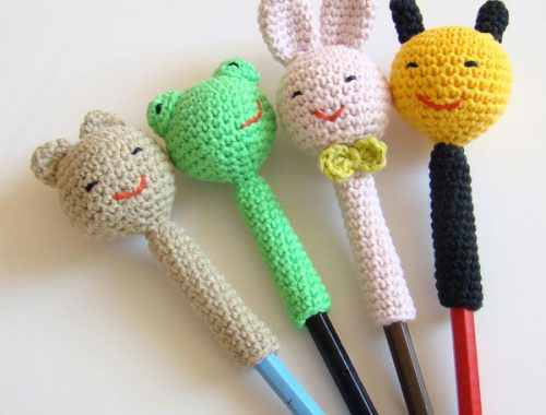 amigurumi crochet pattern kawaii pencil toppers