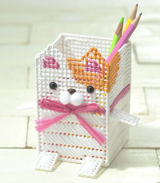 diy cat pencil holder