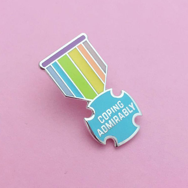 kawaii medal enamel pin